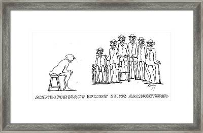 Framed Print featuring the drawing Curing by R  Allen Swezey