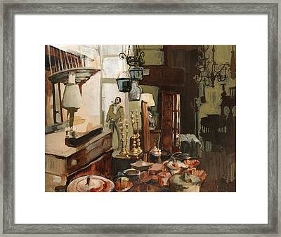 Curio Shop Framed Print by Nancy Watson