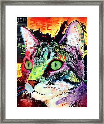 Curiosity Cat Framed Print by Dean Russo