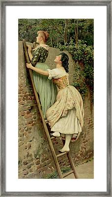 Curiosity Framed Print by Eugen Von Blaas