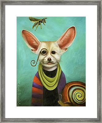 Curious As A Fox Framed Print by Leah Saulnier The Painting Maniac