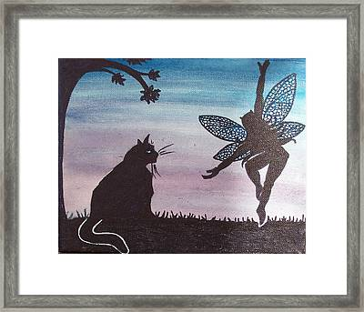 Curious Cat Framed Print by Amy Lauren Gettys