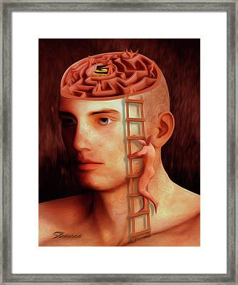 Curious Mind Framed Print by Surreal Photomanipulation