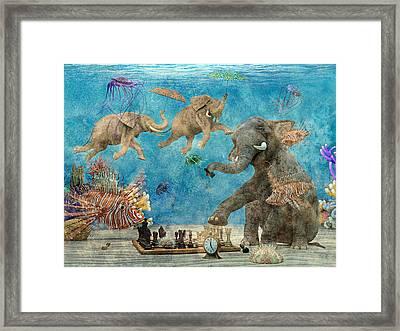 Curious Ocean Textured Framed Print by Betsy Knapp