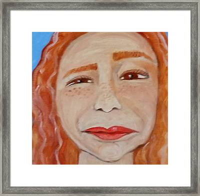 Curiously Questionable  Framed Print by Carol Duarte