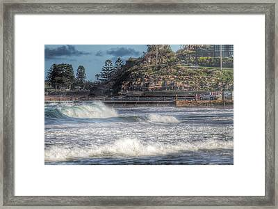 Curl Curl Beach Pools Framed Print by Jeff Dobbs