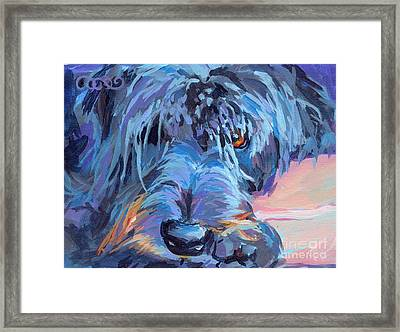 Curl Framed Print by Kimberly Santini