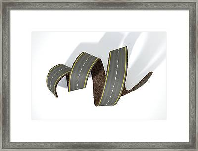Curled Road Framed Print