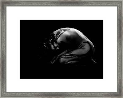 Curled Up Framed Print
