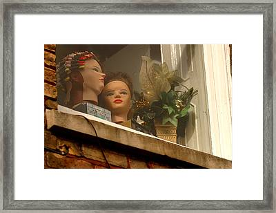 Curlers In Public Show Me Up A Little More Why Dont You Framed Print by Jez C Self