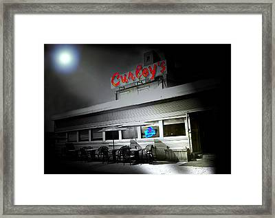Curley's Diner Framed Print by Diana Angstadt