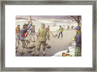 Curling In Scotland Framed Print