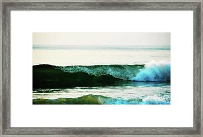 Curling Surf Framed Print by JAMART Photography