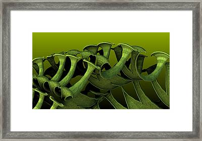 Curling Up Framed Print