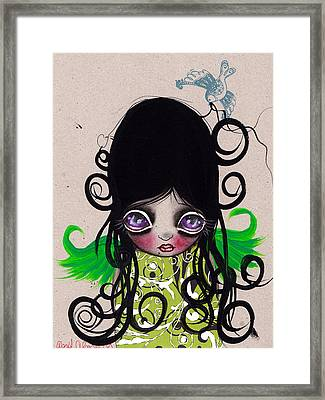 Curls Framed Print by  Abril Andrade Griffith