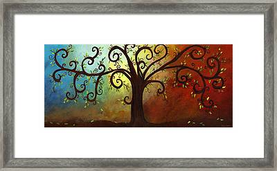 Curly Branches Tree Framed Print by Elaine Hodges