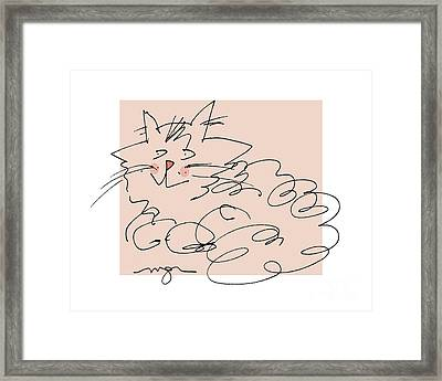 Curly Cat Framed Print