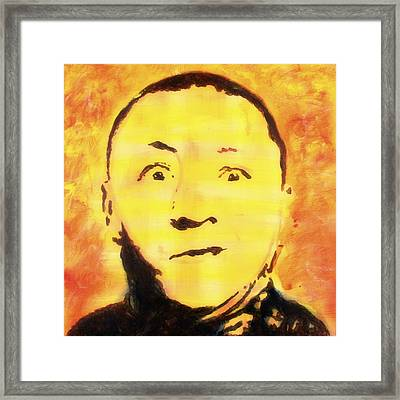 Curly Howard Three Stooges Pop Art Framed Print by Bob Baker