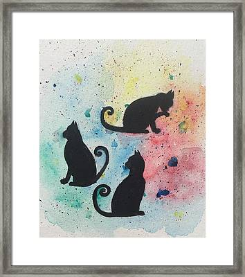 Curly Tails Framed Print