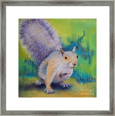 Curly Framed Print by Tracy L Teeter