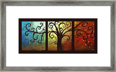 Curly Tree Triptych Framed Print by Elaine Hodges