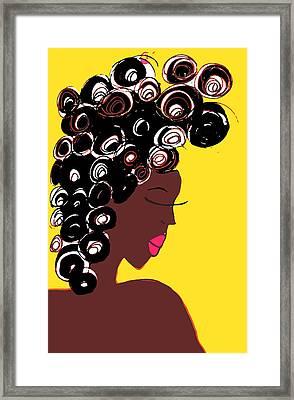 Curlz Framed Print