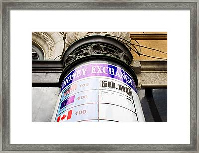 Currency Exchange Framed Print