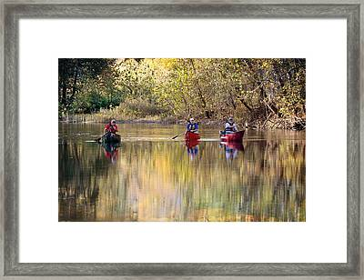 Current River Fall Float Framed Print by Marty Koch