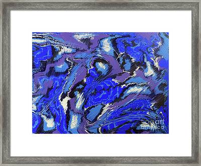 Framed Print featuring the painting Currents And Tides  by Cathy Beharriell