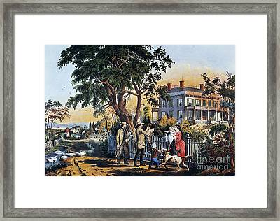 Currier: Country Life Framed Print by Granger