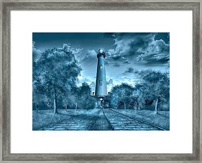 Currituck Beach Lighthouse Framed Print by Bekim Art