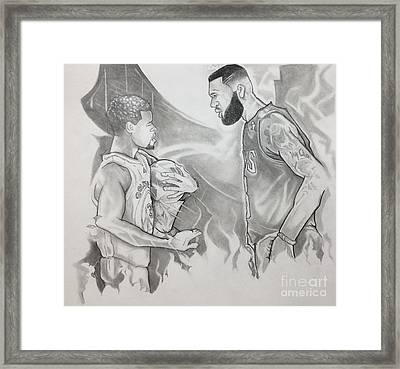 Curry Vs James - Nba Finals Framed Print