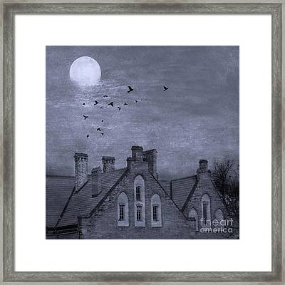 Curse Of Manor House Framed Print by Juli Scalzi