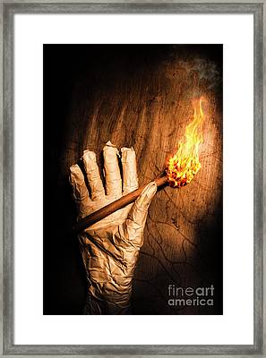 Curse Of The Tomb Robber Framed Print