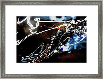 Cursive Framed Print