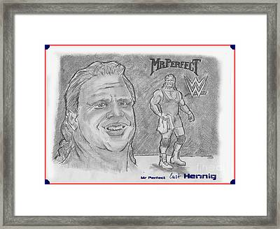 Curt Hennig- Mr Perfect Framed Print by Chris  DelVecchio