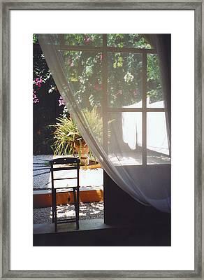 Curtain Framed Print by Andrea Simon