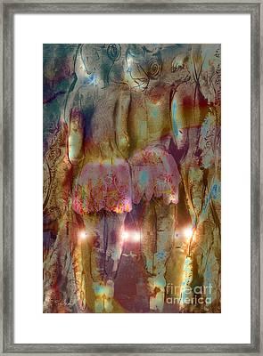 Framed Print featuring the digital art Curtain Call by Gabrielle Schertz