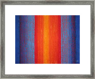 Curtain Call Original Painting Framed Print by Sol Luckman