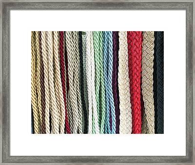 Curtain Cords Framed Print by Tom Gowanlock