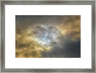 Curtain Of Clouds Eclipse Framed Print