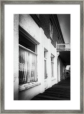 Curtains Framed Print