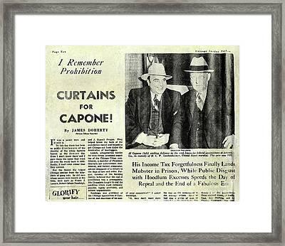 Curtains For Capone Framed Print by Jon Neidert