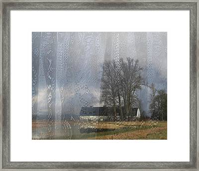 Curtains Of The Mind Framed Print