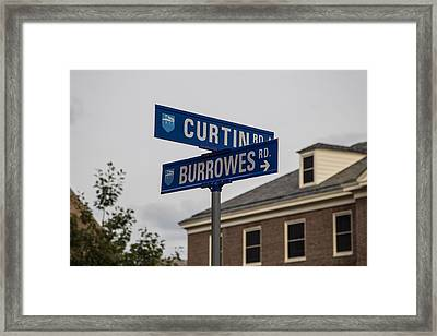 Curtin And Burrowes Penn State  Framed Print