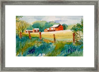 Curtis Farm In Summer Framed Print by Yolanda Koh
