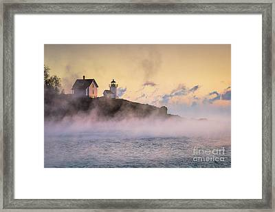 Curtis Island Sea Smoke Framed Print