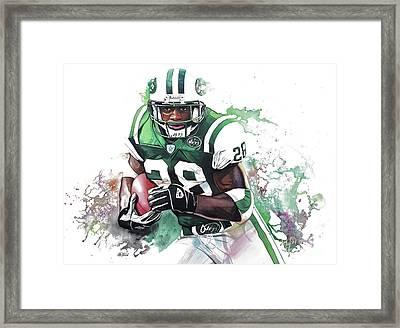 Curtis Martin New York Jets  Framed Print