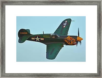 Framed Print featuring the photograph Curtiss P-40k Warhawk N401wh Chino California April 29 2016 by Brian Lockett