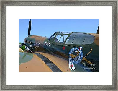 Curtiss P40 The Flying Tigers Framed Print by Paul Ward
